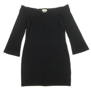 L'agence ponte knit off the shoulder sheath dress